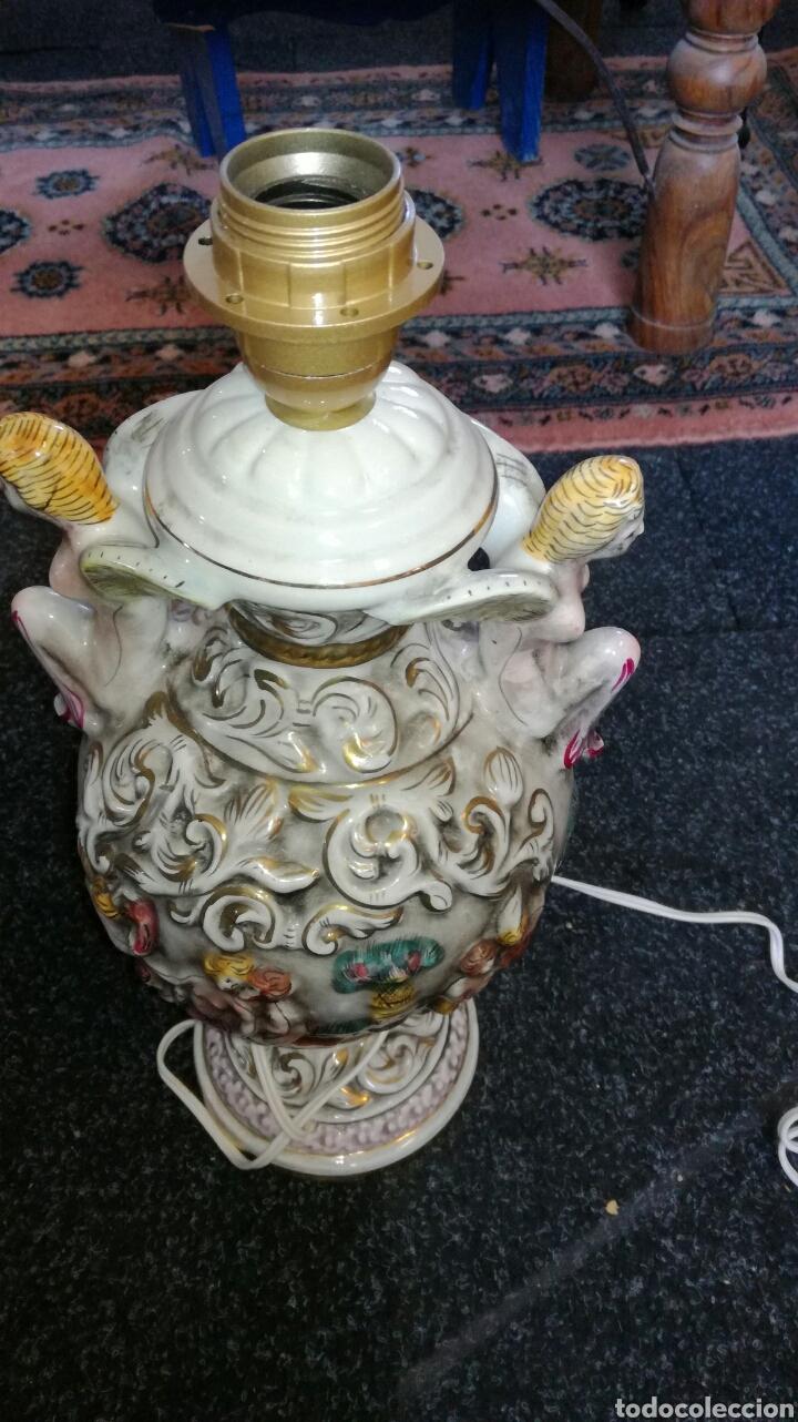 Antigüedades: Lamparas de porcelana Capidimonte muy bonitos L R - Foto 3 - 132873521