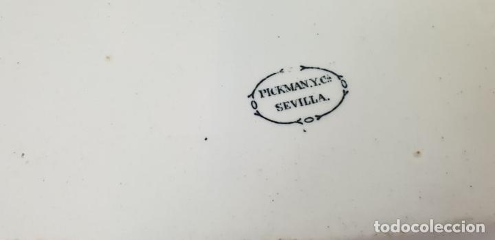 Antigüedades: PAREJA DE BANDEJAS. PORCELANA ESMALTADA. PICKMAN. SEVILLA. SIGLO XIX. - Foto 4 - 132886978