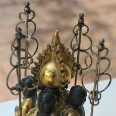 Antigüedades: FIGURA BUDISTA MONJES - MEDIDAS 21 X 8,5 - PARA RESTAURAR - FALTAN 2 MANOS - VER FOTO. Lote 132924586