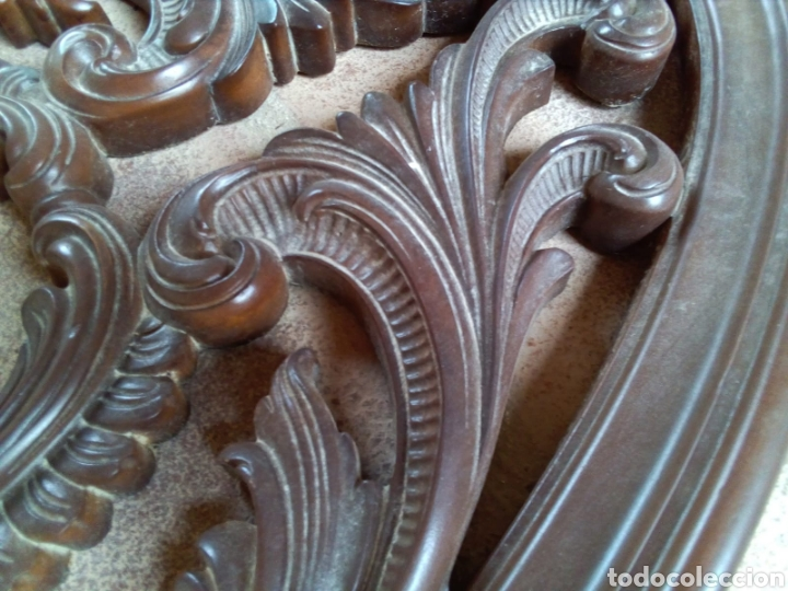 Antigüedades: GRAN ADORNO EN RESINA SIMULANDO MADERA. - Foto 4 - 132933717