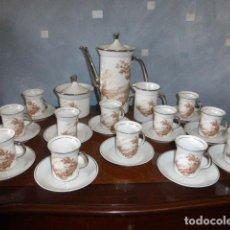 Antigüedades: JUEGO DE CAFE DE DOCE SERVICIOS COMPLETO. Lote 132933922