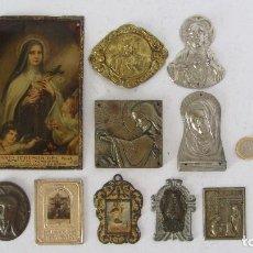 Antigüedades: PLACA , CHAPA RELIGIOSA DE PUERTA. Lote 132938390