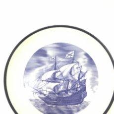 Antigüedades: GALEON S XVI - PLATO PORCELANA BIDASOA - HISTORIA NAVAL DE ESPAÑA - EDICION LIMITADA 3000 UNIDADES. Lote 132953890