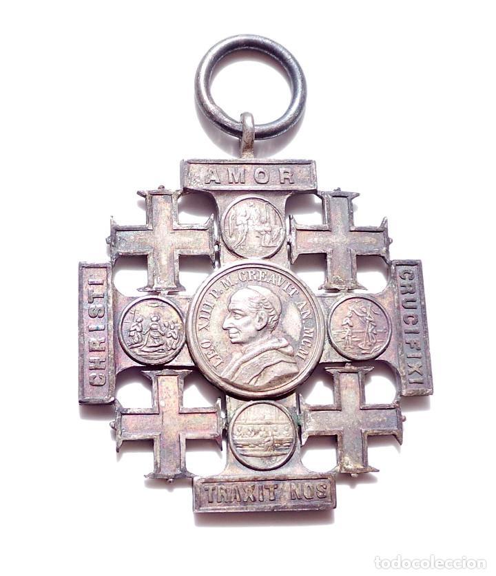 MEDALLA PAPA LEON XIII (Antigüedades - Religiosas - Medallas Antiguas)