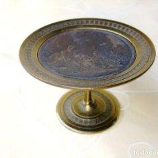 Antigüedades: INCENSARIO EN BRONCE CON MEDALLÓN EN COBRE GRABADO PASTORALE, . Lote 132970082
