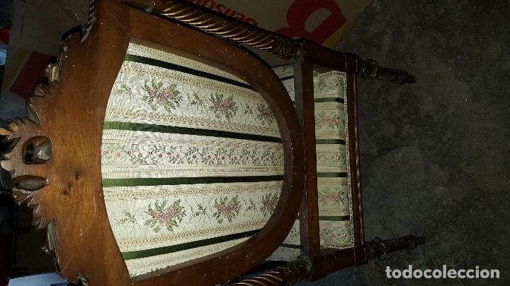Antigüedades: 5 SILLAS ISABELINAS Y TRESILLO - Foto 5 - 67038790
