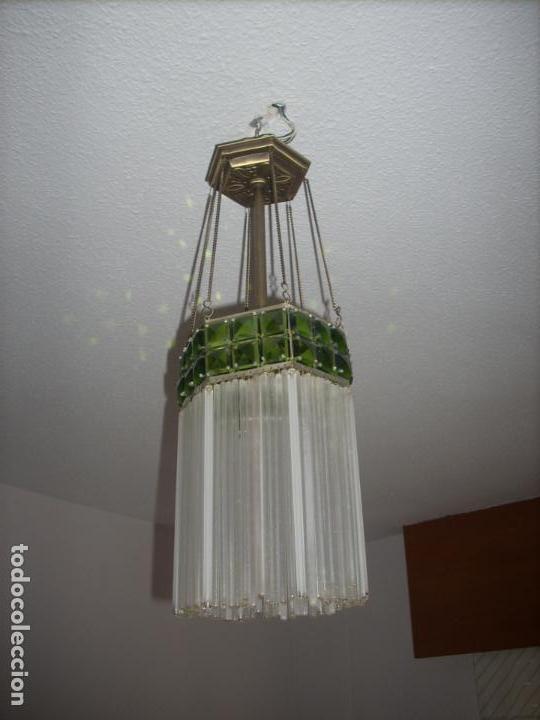 LAMPARA ART DECO O MODERNISTA DE LOS AÑOS 20. TODO ORIGINAL. RESTAURADA Y REELECTRIFICADA (Antigüedades - Iluminación - Lámparas Antiguas)
