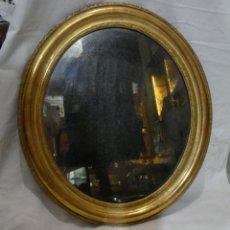 Antigüedades: ANTIGUO ESPEJO DORADO O CORNUCOPIA. MADERA Y PAN DE ORO. S.XIX.. Lote 132993746