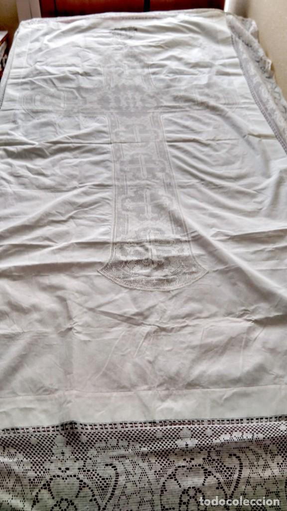 antiguo mantel algodón, encaje mecánico y manua - Comprar Ornamentos ...