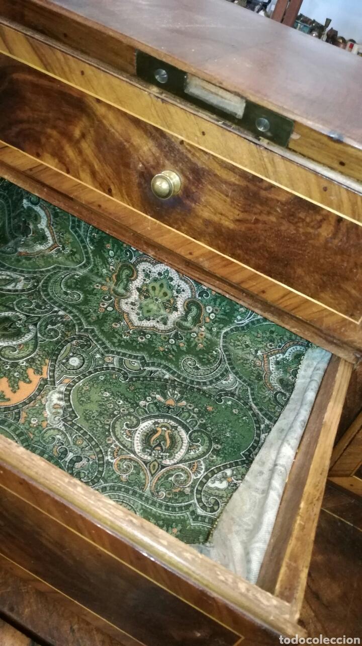 Antigüedades: Comoda escritorio con secreter de nogal siglo XVIII - Foto 5 - 133022665