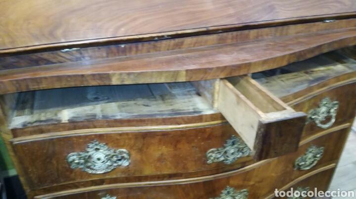 Antigüedades: Comoda escritorio con secreter de nogal siglo XVIII - Foto 7 - 133022665