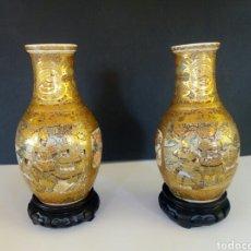 Antigüedades: PAREJA JARRONES SATSUMA. Lote 133025838
