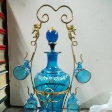 Antigüedades: LICORERA FRANCESA PINTADA XIX. Lote 133040205