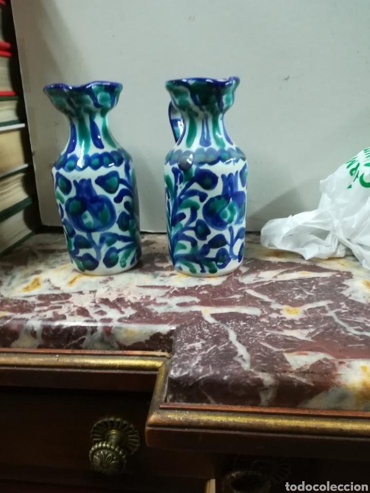 Antigüedades: Pareja de vinagre ras de fajalauza xx - Foto 2 - 133046657