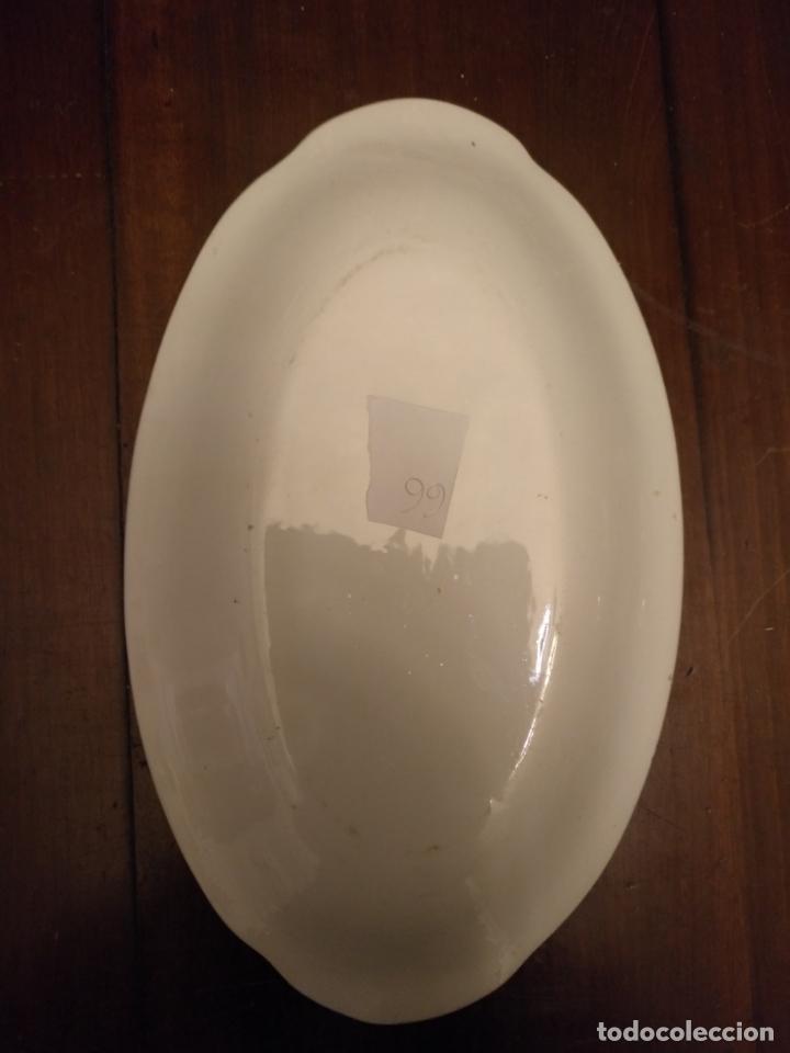 Antigüedades: bandeja PEQUEÑA n 66 - 23X14 cm - ceramica porcelana opaca sin sello san juan - tipo pickman - Foto 2 - 133057486