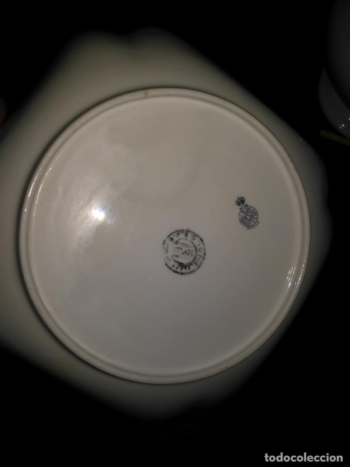 Antigüedades: GRAN BOL ENSALADERA CUADRADA CON FORMAS - ceramica porcelana opaca sello san juan - tipo pickman - Foto 6 - 133058554