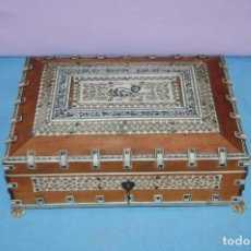 Antigüedades - CAJA ANGLO INDIA FINALES SIGLO XIX - 133058614