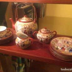 Antigüedades: CONJUNTOS CAFÉ/TÉ CÁSCARA DE HUEVO MUY ANTIGUO. Lote 142931548