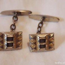 Antigüedades - Bellos gemelos con baño de oro - 133066526