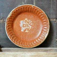 Antigüedades: PLATO DE TERRISSA MATARO S. XIX * 26 CM * BARRO CATALAN. Lote 133080206