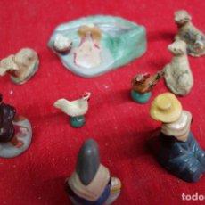 Antigüedades: CONJUNTO DEL NACIMIENTO DEL NIÑO JESUS HECHOS EN TERRACOTA DEL SIGLO XIX. Lote 133105294