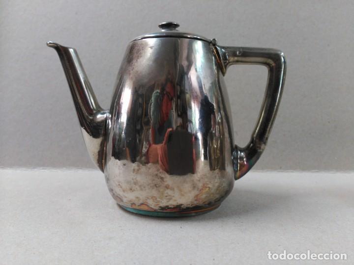 Antigüedades: JUEGO DE CAFE / TE METAL PLATEADO 3 PIEZAS - Foto 5 - 133147642