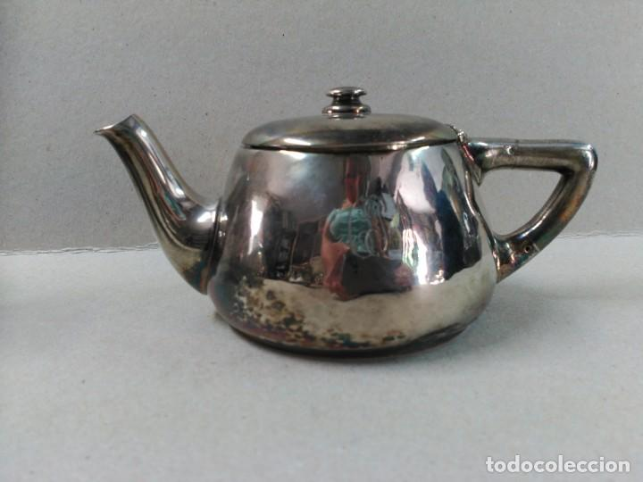 Antigüedades: JUEGO DE CAFE / TE METAL PLATEADO 3 PIEZAS - Foto 21 - 133147642