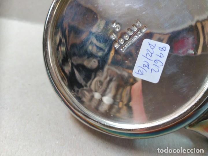 Antigüedades: JUEGO DE CAFE / TE METAL PLATEADO 3 PIEZAS - Foto 29 - 133147642