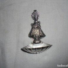 Antigüedades: ANTIGUA BENDITERA DE PLATA VIRGEN DE COVADONGA CUÑOS. Lote 133154086