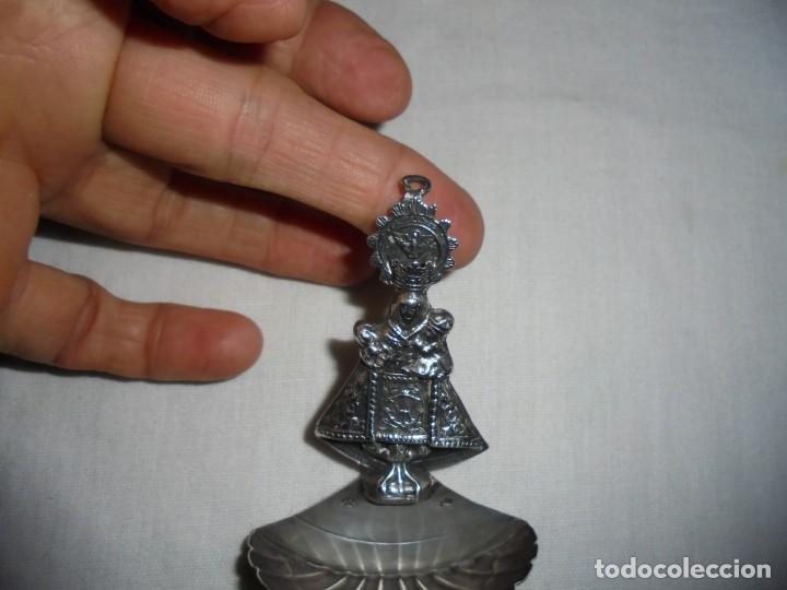Antigüedades: ANTIGUA BENDITERA DE PLATA VIRGEN DE COVADONGA CUÑOS - Foto 10 - 133154086