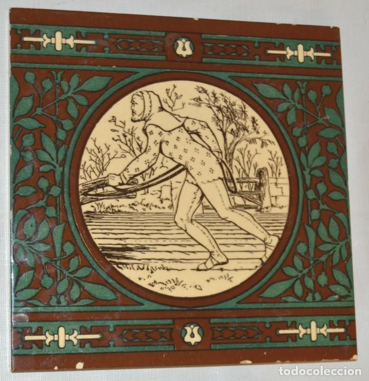 Antigüedades: JOHN MOYR SMITH - AZULEJO EXTRAORDINARIO - SIGLO XIX - ARTS & CRAFTS - CASA MINTON - Foto 2 - 133154798