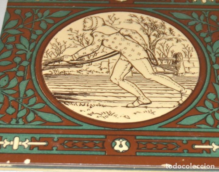 Antigüedades: JOHN MOYR SMITH - AZULEJO EXTRAORDINARIO - SIGLO XIX - ARTS & CRAFTS - CASA MINTON - Foto 5 - 133154798