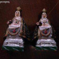 Antigüedades: VIRGEN - DOS ANTIGUAS IMAGENES DE LA VIRGEN DE LAS ANGUSTIAS CON EL CRISTO. Lote 133160738