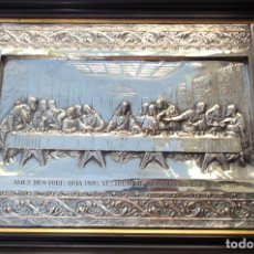 Antigüedades: SANTA CENA DE LONARDO DA VINCI 63 CM ENMARCADA. Lote 133163098