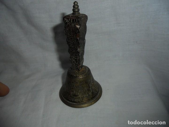 Antigüedades: CAMPANA METAL Y MANGO DE MADERA,CARABELA CRISTOBAL COLON - Foto 2 - 133178446