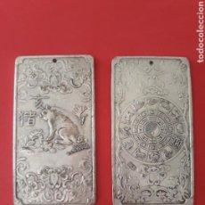 Antigüedades: ANTIGUO LINGOTE PLATA TIBETANA. Lote 133133246