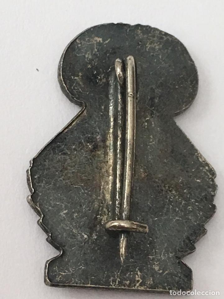 Antigüedades: Pin fallero plata de ley junta central infantiles 1,6x2,4 - Foto 2 - 133187427