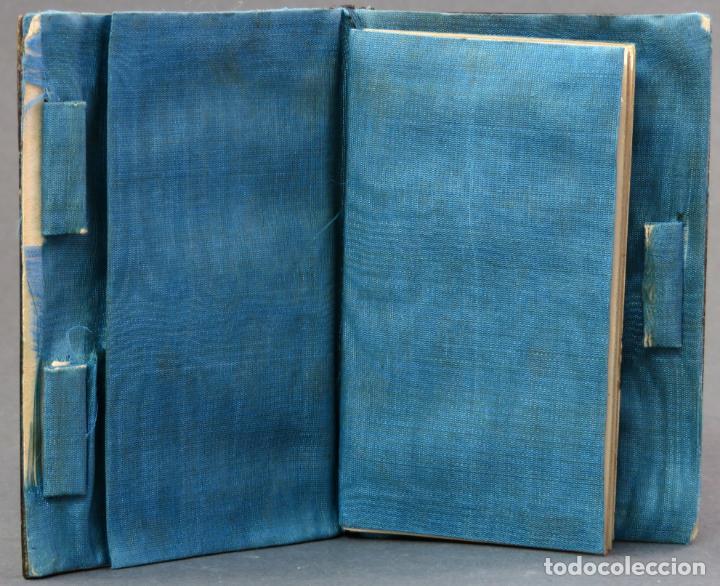 Antigüedades: Agenda francesa con calendario tapas con incrustaciones de nacar hacia 1910 - Foto 2 - 133187866