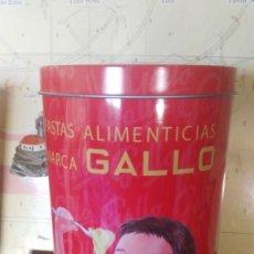 Antigüedades: REPRODUCCIÓN DE CAJA, PASTAS GALLO. Lote 133201438