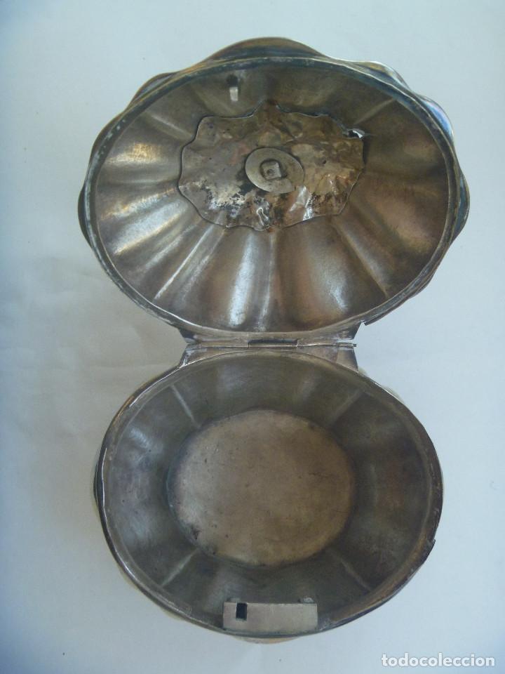 Antigüedades: MUY ANTIGUO JOYERO DE ALPACA ( PORQUE NO CREO QUE SE PLATA ) O SIMILAR - Foto 4 - 133210866