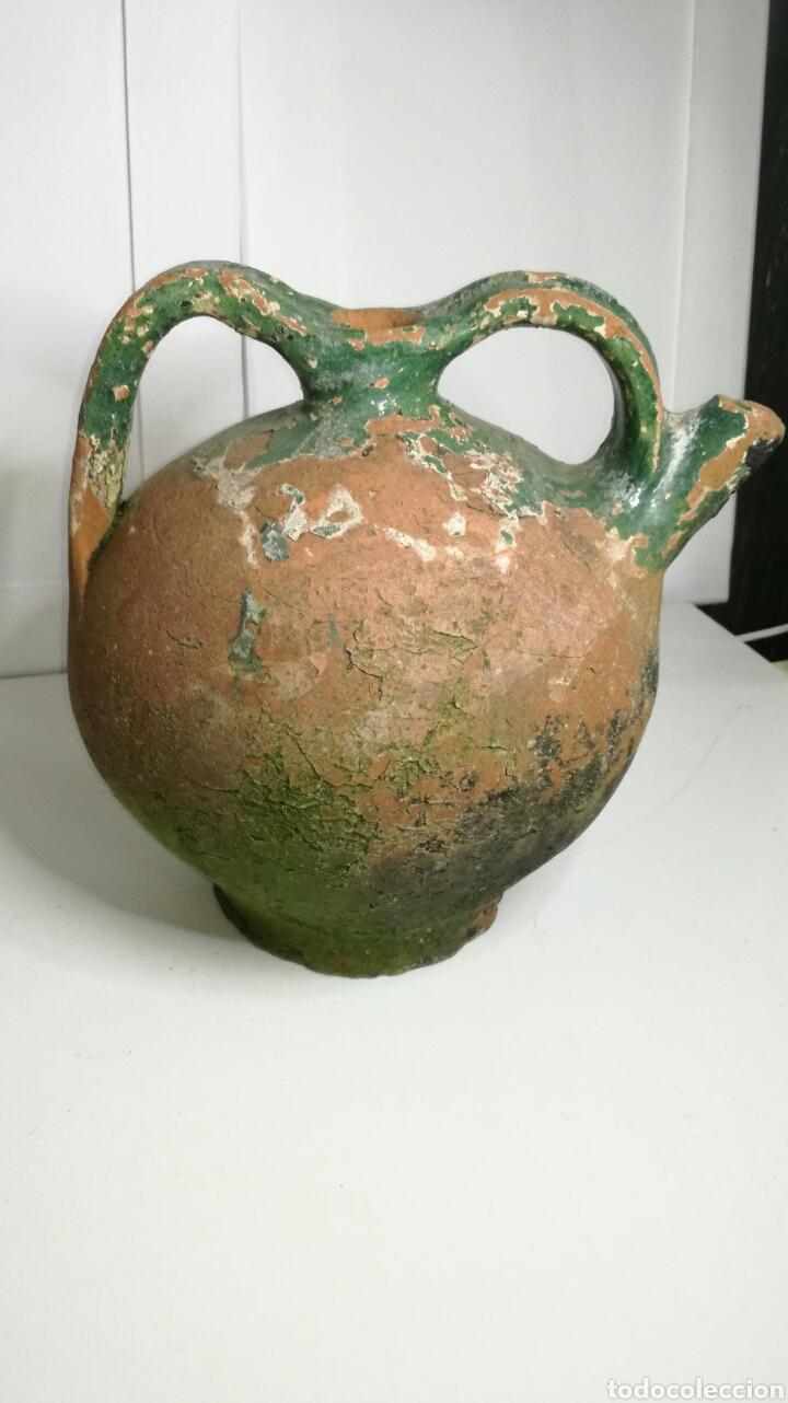 BONITO BOTIJO VASCO DE BARRO ANTIGUO (Antigüedades - Porcelanas y Cerámicas - Otras)