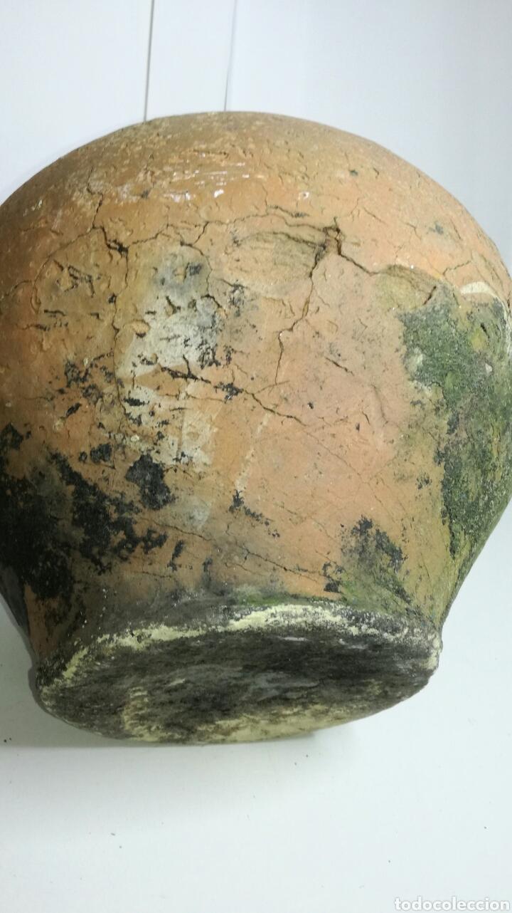 Antigüedades: Bonito botijo vasco de barro antiguo - Foto 5 - 133225937