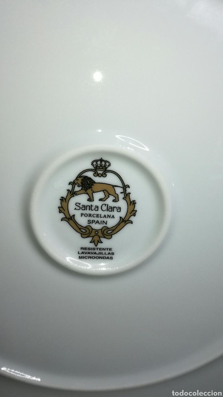 Antigüedades: Plato de porcelana santa clara - Foto 3 - 133227645