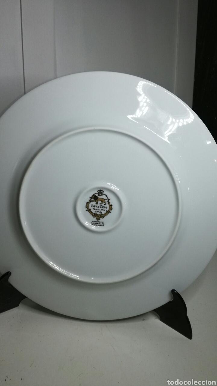 Antigüedades: Plato de porcelana santa clara - Foto 4 - 133227645
