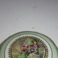 Antigüedades: CAJA DE.PORCELANA DE ANTIGUA DE LIMOJES FRANCESA. Lote 133228666