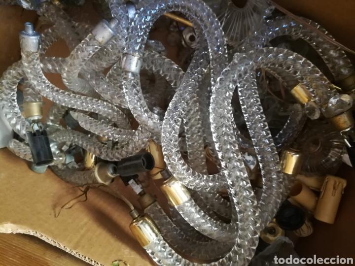 Antigüedades: Lampara Grande de cristal antiguo - Foto 3 - 131577090