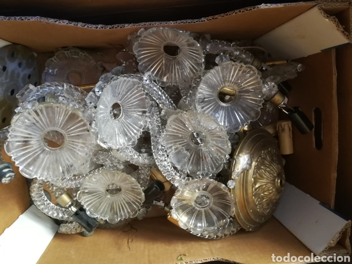 Antigüedades: Lampara Grande de cristal antiguo - Foto 6 - 131577090