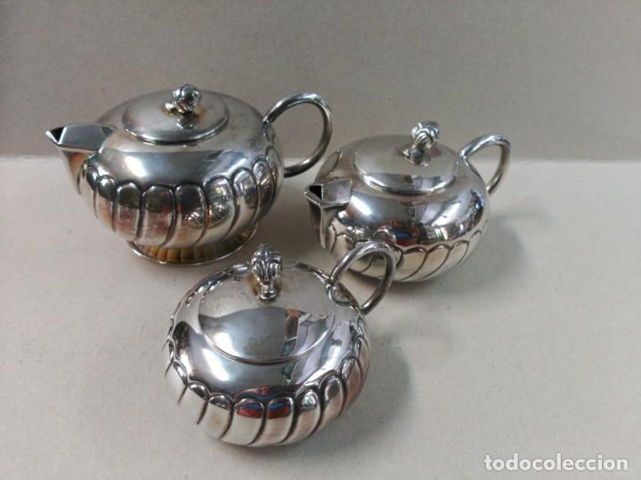 Antigüedades: JUEGO DE CAFE / TE EN ALPACA METAL PLATEADO - Foto 2 - 133241958