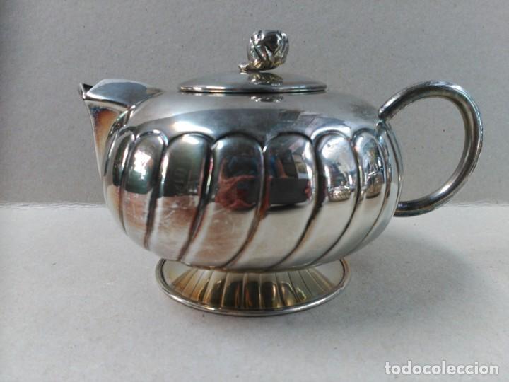 Antigüedades: JUEGO DE CAFE / TE EN ALPACA METAL PLATEADO - Foto 4 - 133241958