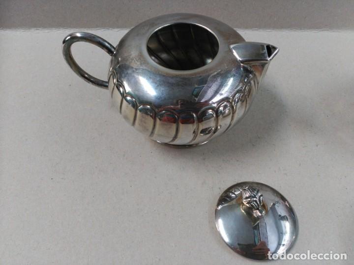 Antigüedades: JUEGO DE CAFE / TE EN ALPACA METAL PLATEADO - Foto 8 - 133241958